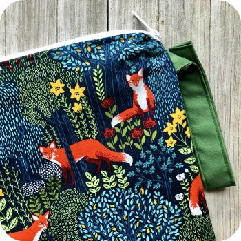 (Made to Order) Into The Woods Fox Wet Bag