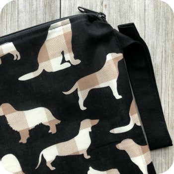 (Made to Order) Plaid Dogs Wet Bag