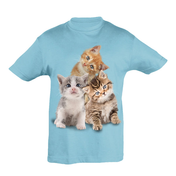 Cute Cat Cubs T-Shirt Kids