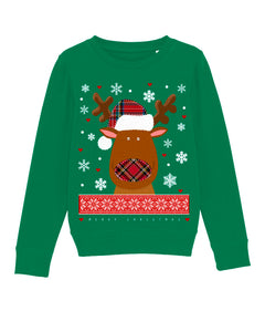 X-mas Deer Sweatshirt Kids