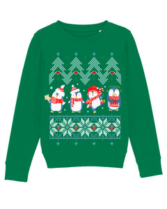 X-mas Penguins Sweatshirt Kids