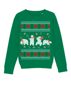 X-mas Bears Sweatshirt Kids