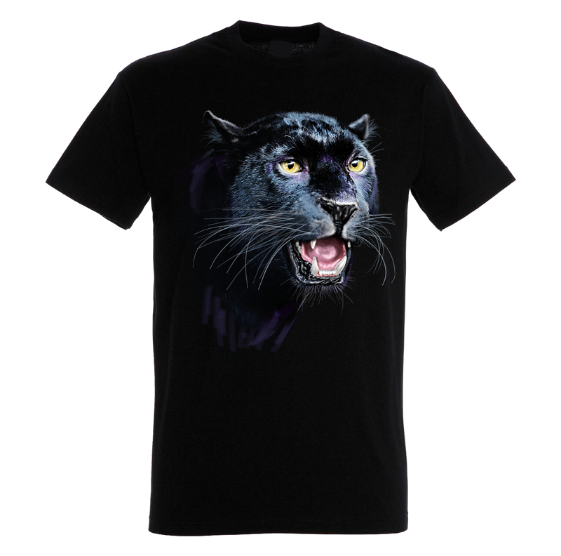 Black Panther Head T-Shirt