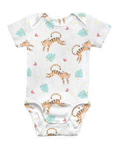 Tiger Party Baby Bodysuit