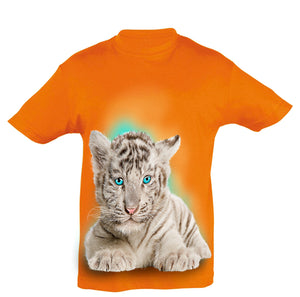 White Tiger Cub T-Shirt Kids