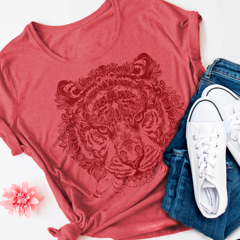 Tiger Mandala T-Shirt Women