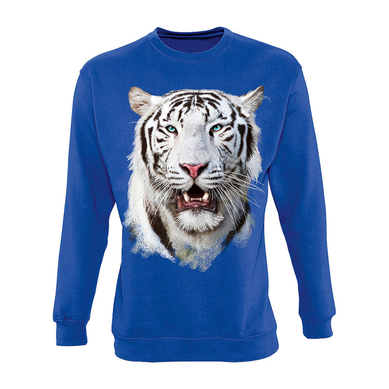 White Tiger Head Sweatshirt