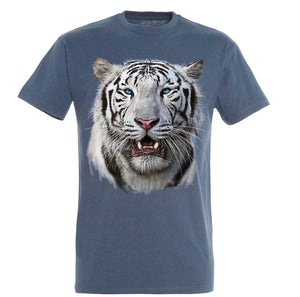 White Tiger Head T-Shirt