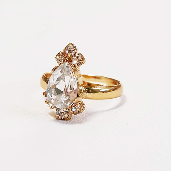 Drop crystal ring, Queen Ring, The Lady Bride