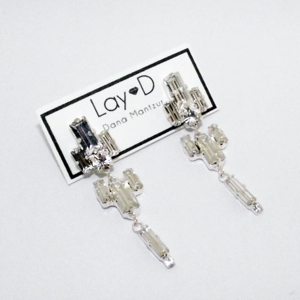 Long rhinestone earrings