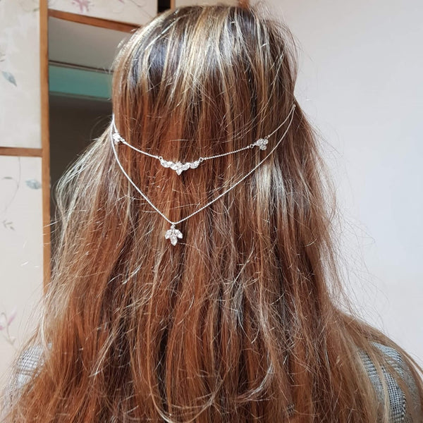 Bride hair chain