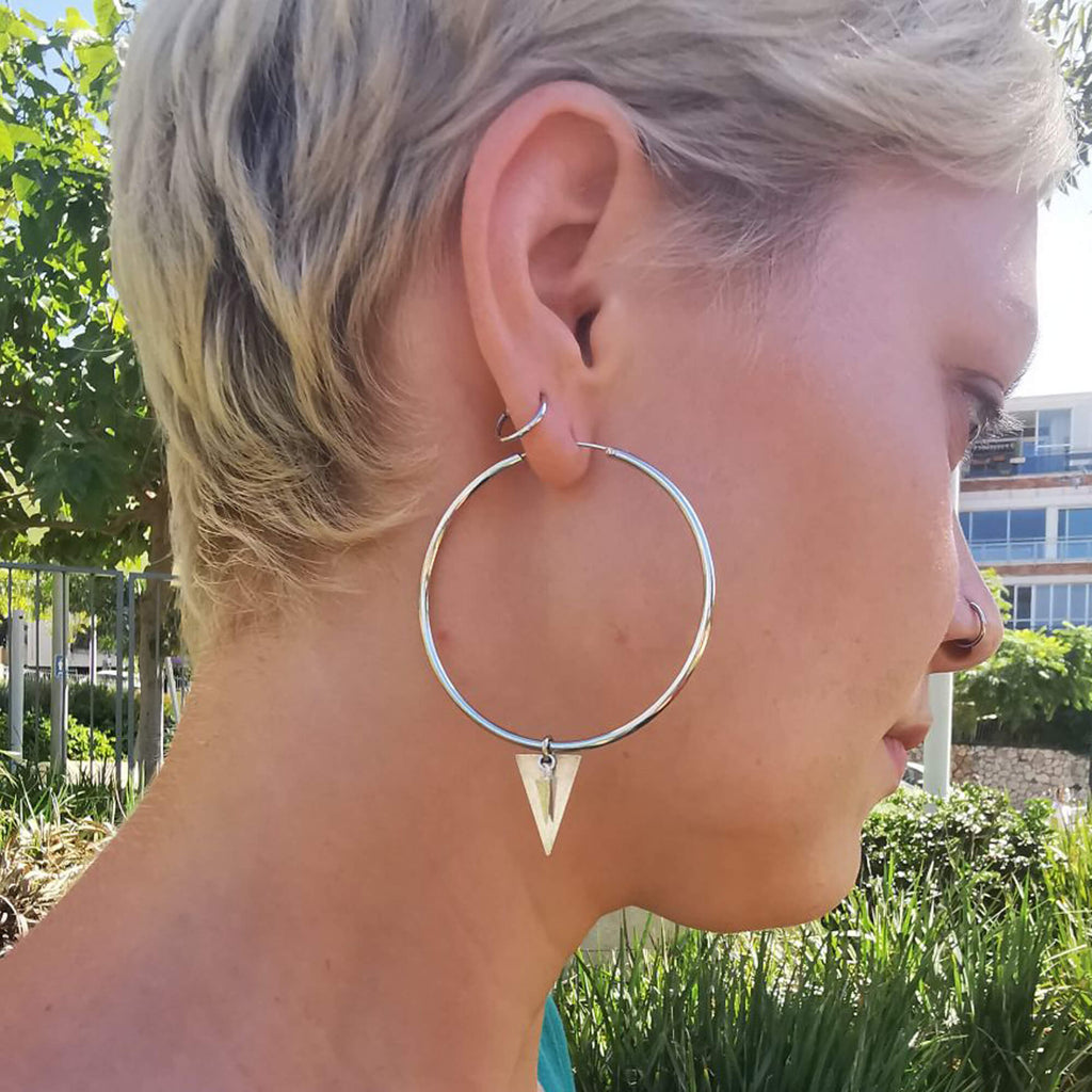 Streetwear earrings, Expo Hoop Earrings, Dana Manztur