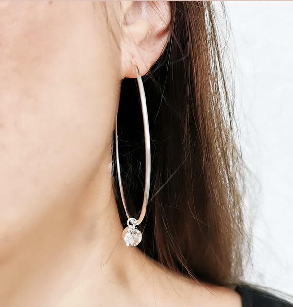 Large hoop earrings | Dana Mantzur