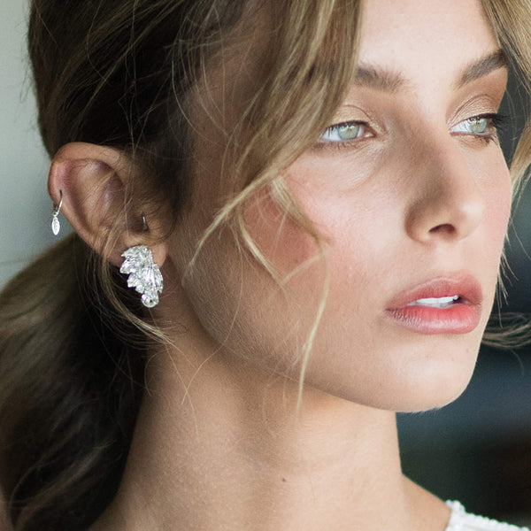 Swarovski cluster earrings
