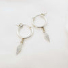 Shannon Earrings, Sterling silver hoops, Dana Mantzur