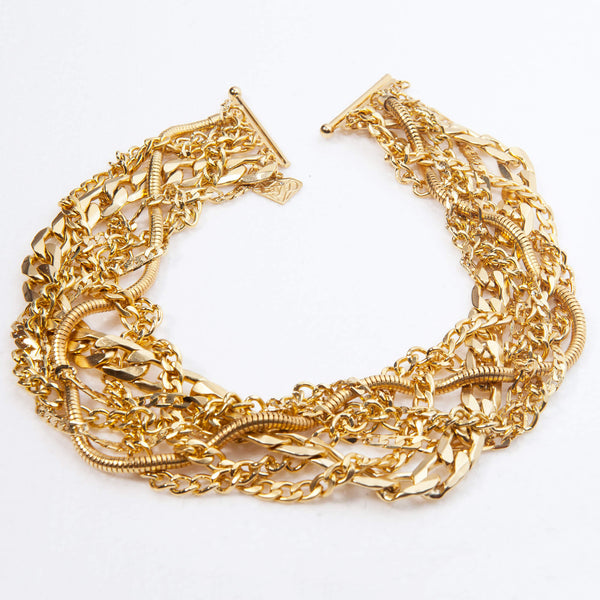 Gold chunky necklace, Billy Necklace, Dana Mantzur