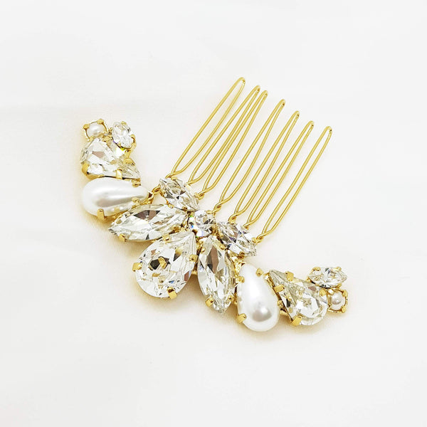 Gil Hair comb, Gold hair comb, The Lady Bride