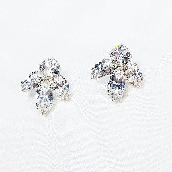 Shira Earrings, Swarovski crystal earrings, Dana Mantzur