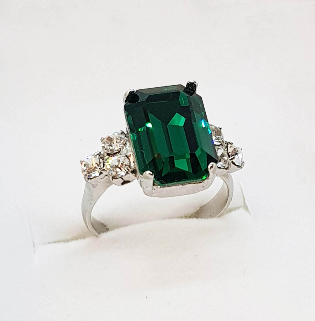 Elizabeth Ring' Emerald crystal ring, Dana Mantzur