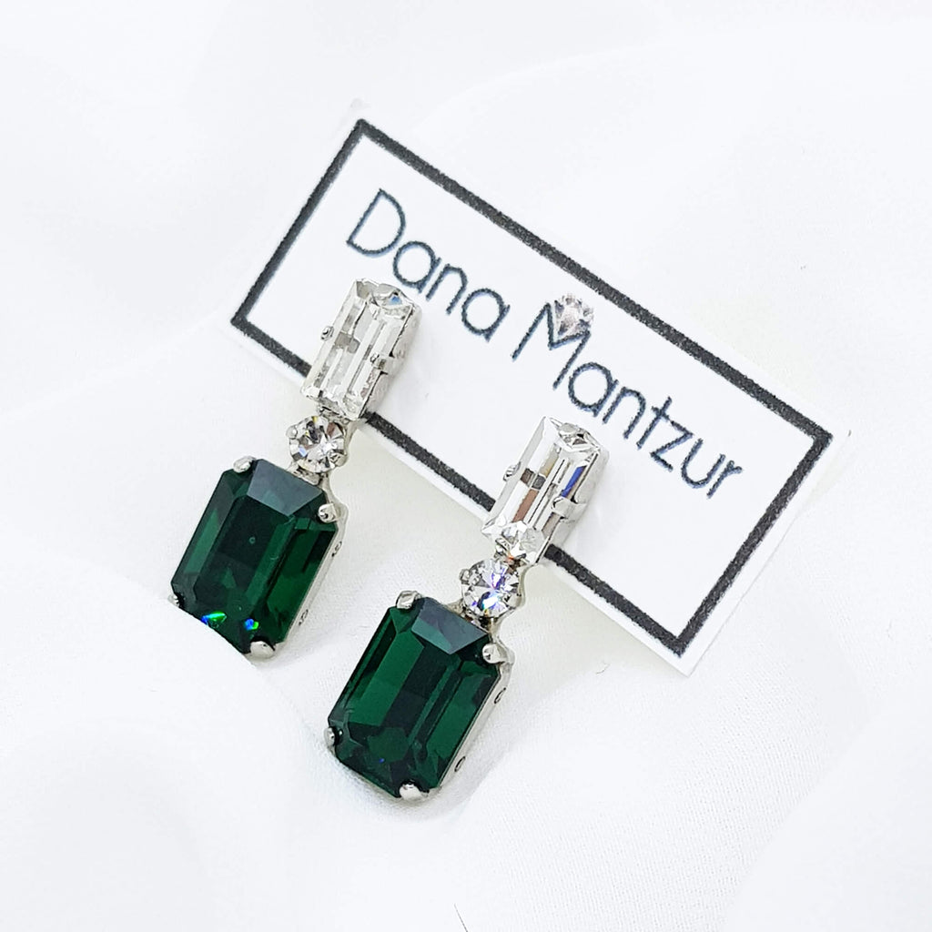 Emerald earrings , Belle earrings, Dana Mantzur
