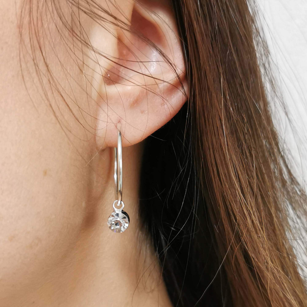 Silver hoop earrings | Dana Mantzur