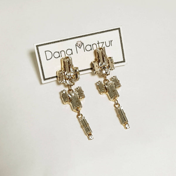Urban earrings, Art Deco Earrings, Dana Mantzur