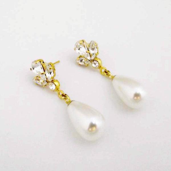 Zirconia Pearl Earrings