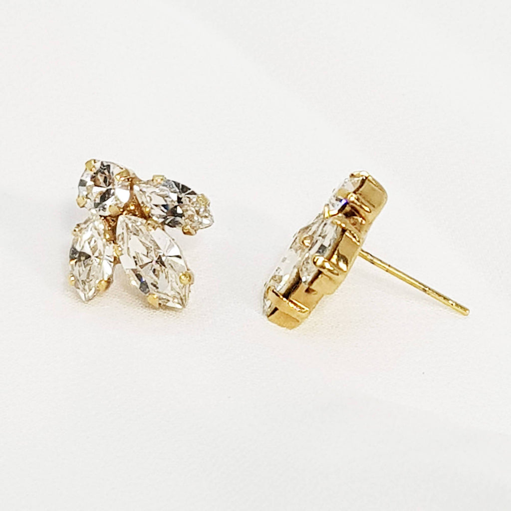 Shira Earrings, Gold CZ earrings, Dana Mantzur