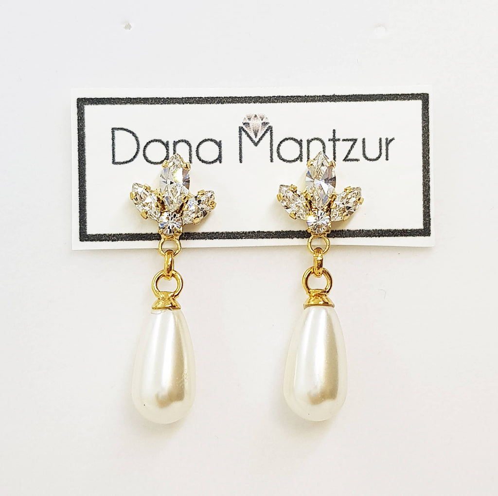 Drop pearl earrings, Caitlin Earrings,The Lady Bride