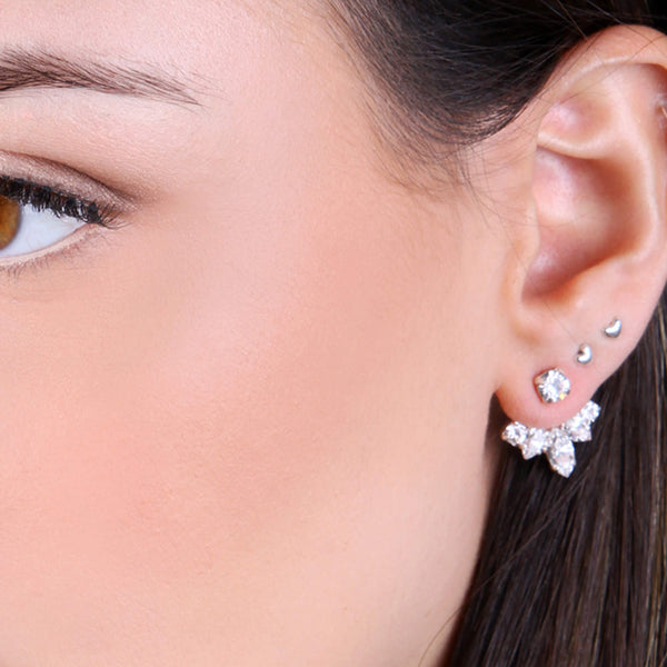 Swarovski crystal ear jackets