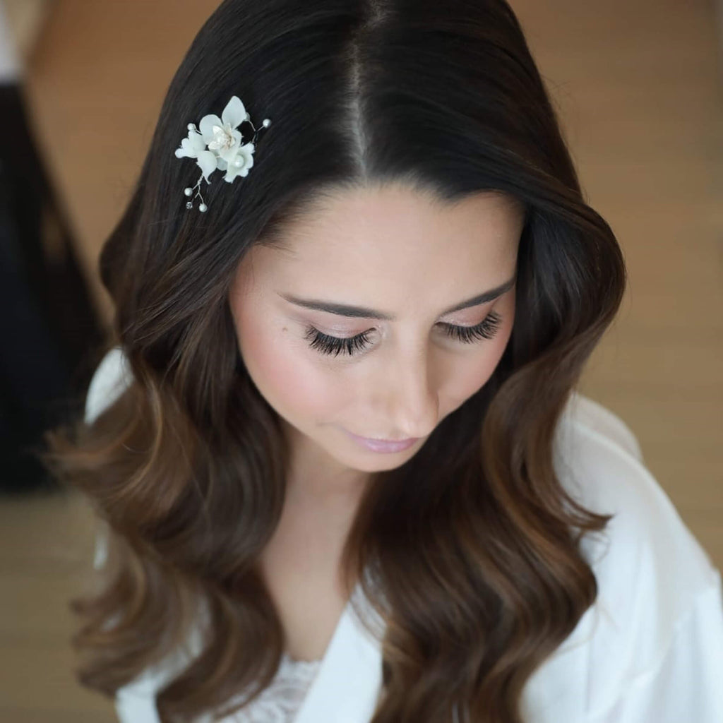 Small wedding comb, Ruth floral hair clip, The Lady bride
