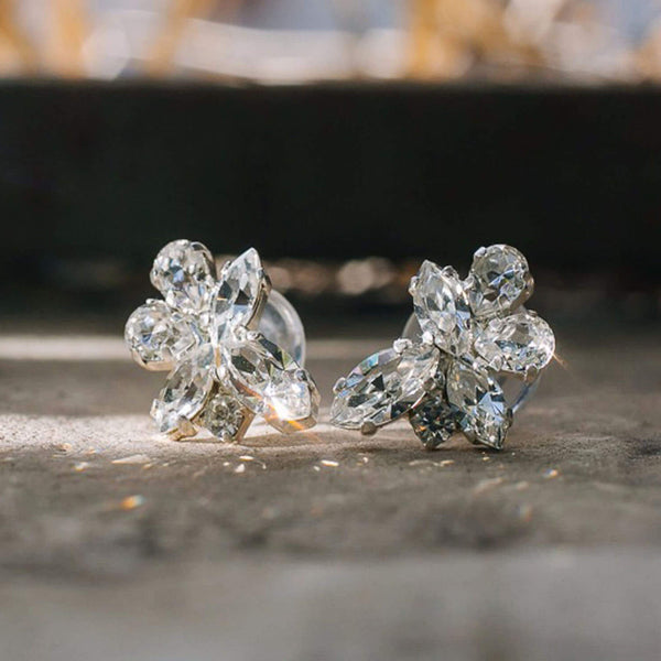 Bride earrings crystal