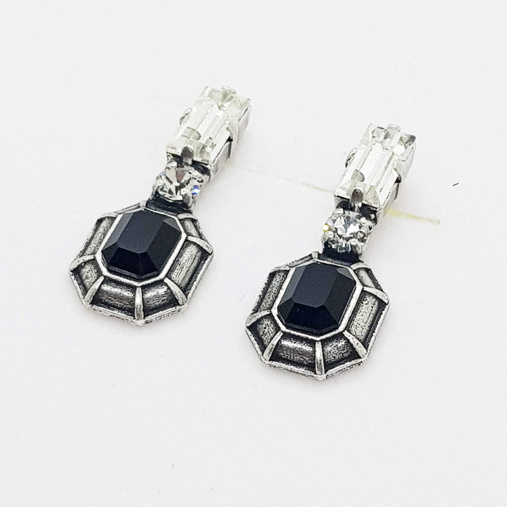 Black earrings, Berry Stud Earrings, The Lady Bride