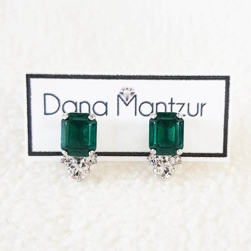 Green crystal earrings | Joy earrings | Dana Mantzur