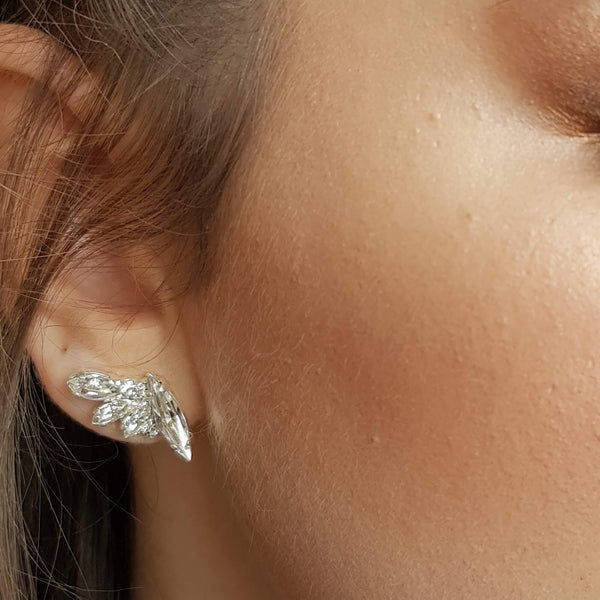 Cz climbing earrings