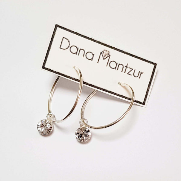 Dainty silver Hoop earrings | The Lady Bride