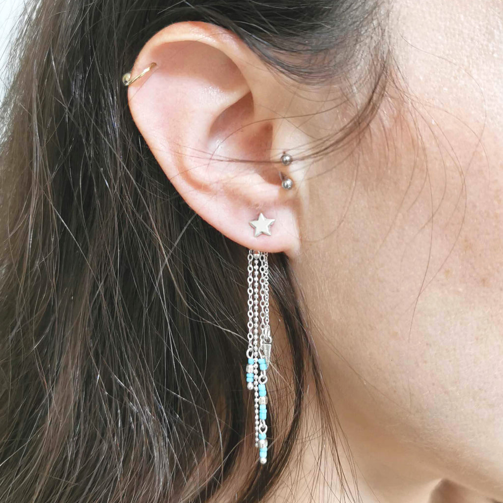 Boho initial ear jackets, Mix-It Ear Jackets Turquoise, Dana Mantzur