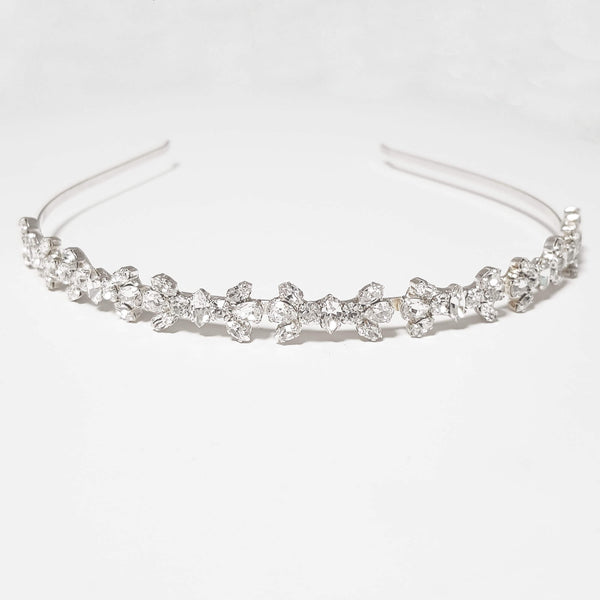 Silver bride headpiece