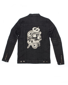 Vantablack Limited - Skull Denim Jacket (Black) - Dirty Store