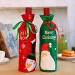 Christmas Decorations for Home Wine Bottle