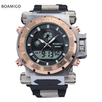 Men military watches Dual Time Quartz Watch