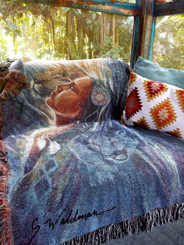 Native Art Throws & Tapestries