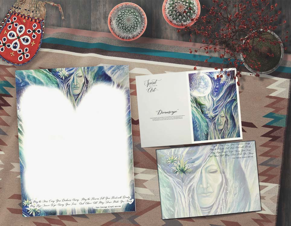 Dreamscape Stationary Note Sheets