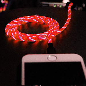 Flowing Light Smart USB Cable - iPhone/Android - आधुनिक केबल