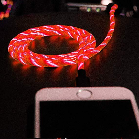 Flowing Light Smart USB Cable - iPhone/Android