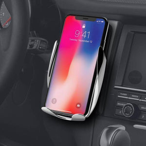 AUTO-CLAMPING WIRELESS PHONE CHARGER MOUNT
