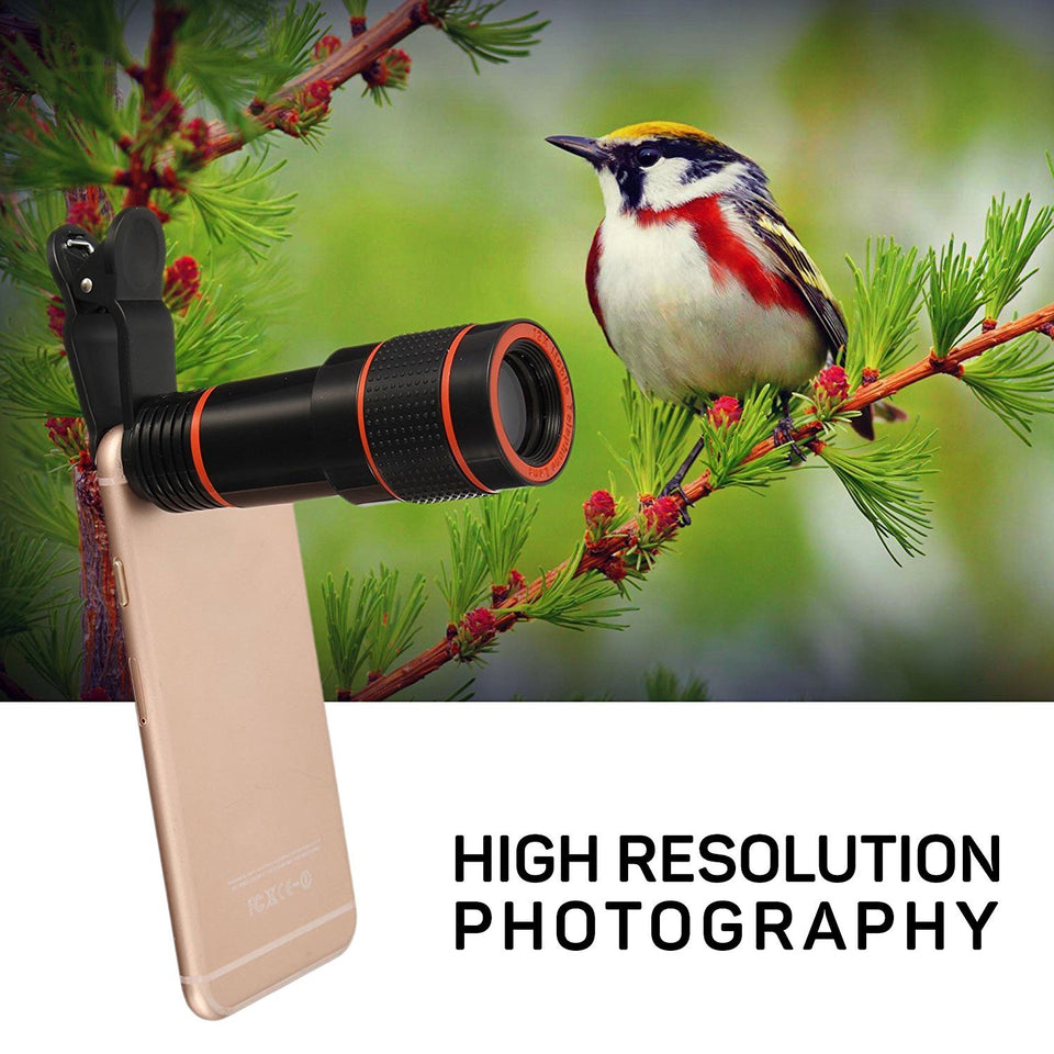 Universal 8x Optical Zoom Telescope Lens for Smartphones