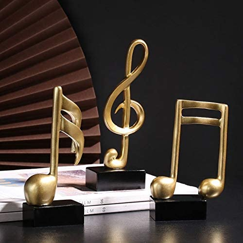 Figurine Decorative Art Statuette Musical Notes