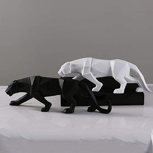 Modern Abstract Black Panther Statue
