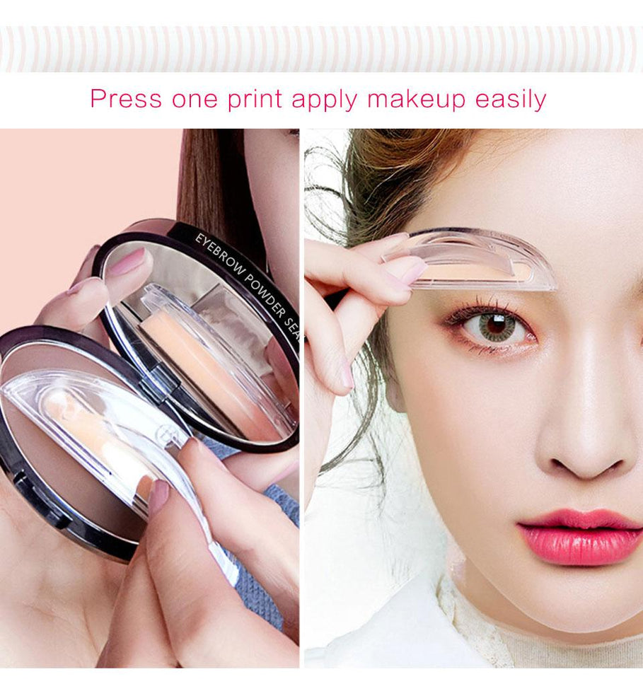 Instant Waterproof Curved Eyebrow Stamp